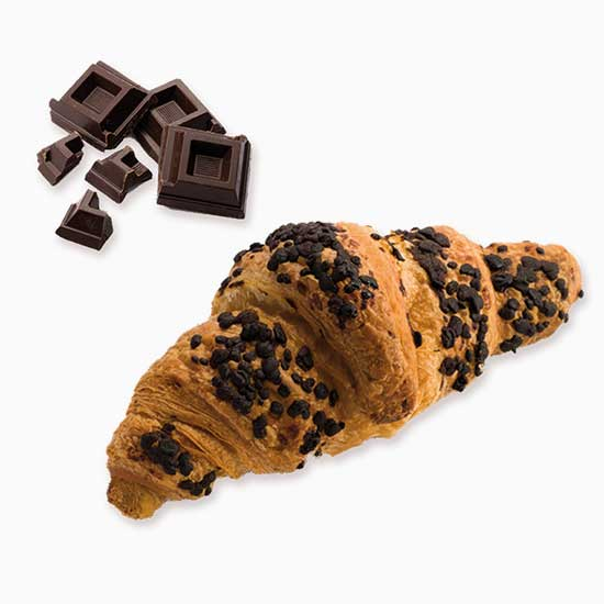 Croissant with Chocolate Flakes 85gr – art D00004
