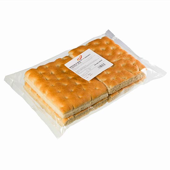 Pre-cut Rectangular Focaccia  – (Retail 180gr x 4 slices) – artC00536